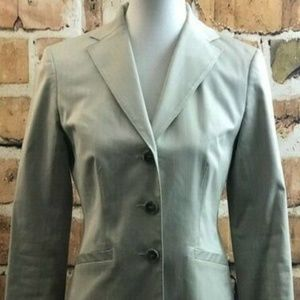 Ann Taylor Petite Tan Three Button Blazer, 8P